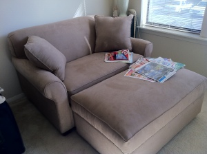 Sofa in sunroom