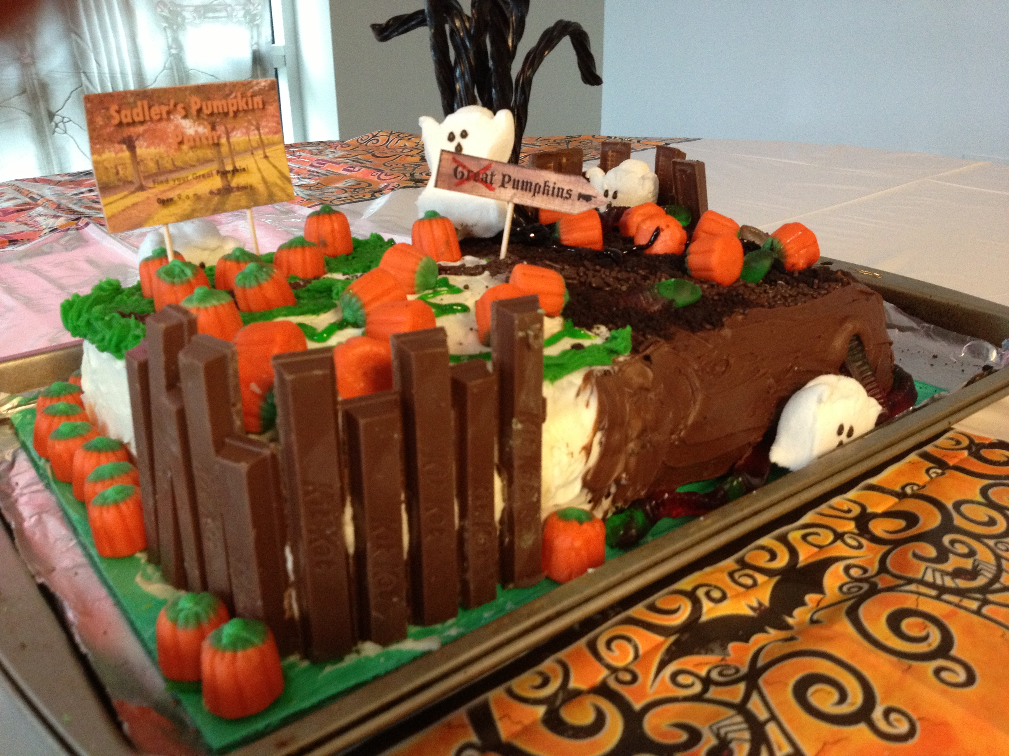 Kit Kat Fence Cake