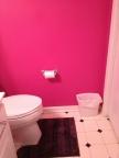 Hot pink bath