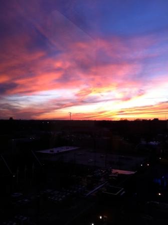 Fiery sky in Raleigh, NC