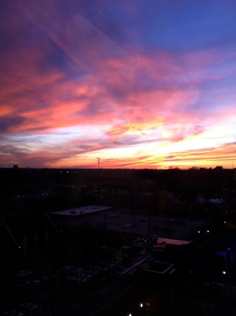 Fiery sky in Raleigh, NC
