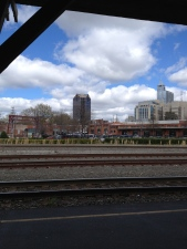 Raleigh skyline from Amtrak