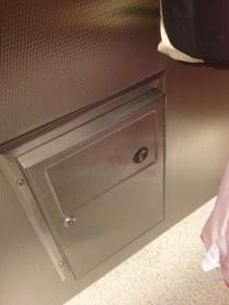 Toilet stall trash