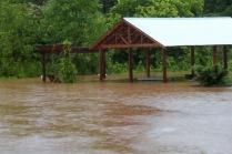 flooded picnic shelter