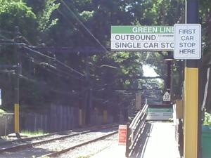 Brookline trolley track