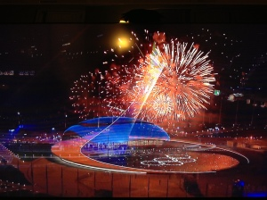 Fireworks at The Winter Olympic Games