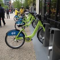 Bikes on street Minneapolis