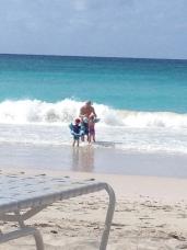 Family in the ocean