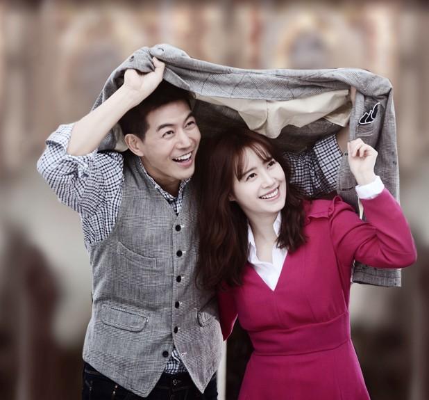 Dong Joo and Soo Wan smiling