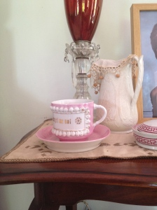Tea cup and water pitcher