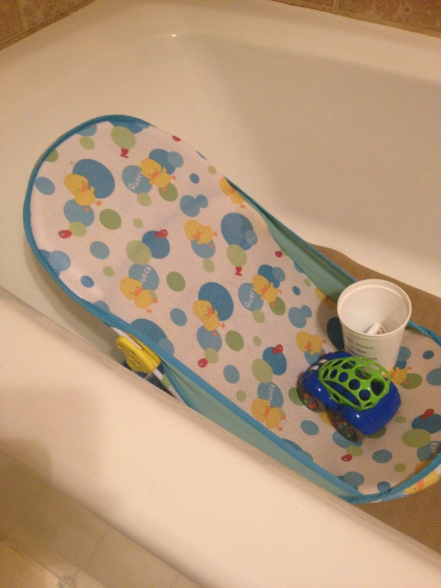 Baby Bath inside the bathtub