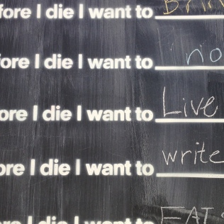 Before I die wall at Artsplosure