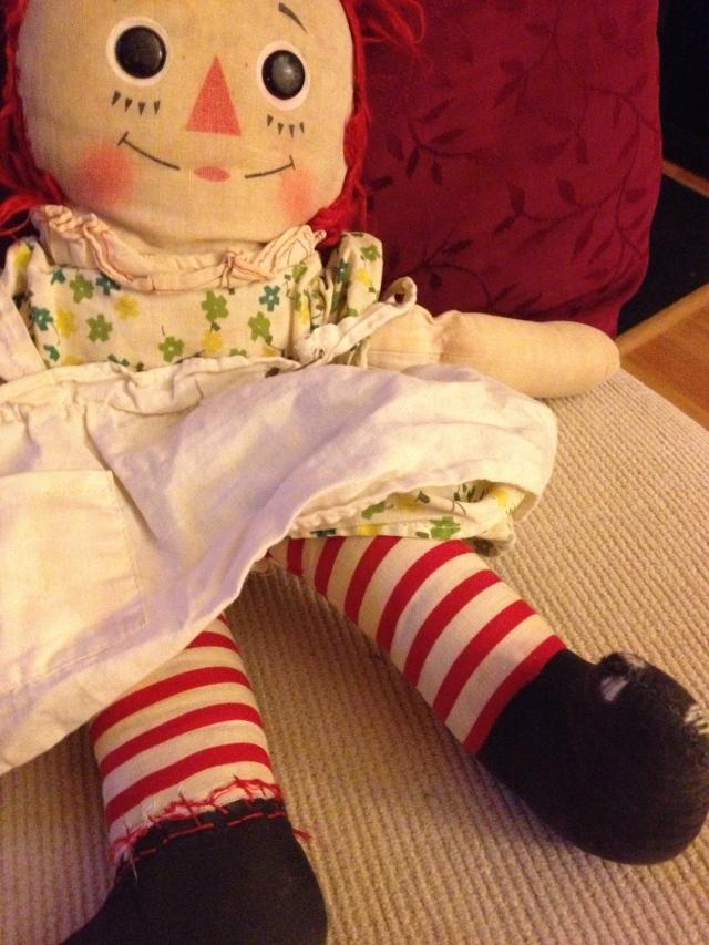 old Raggedy Ann doll