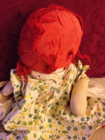 Bald Raggedy Ann doll