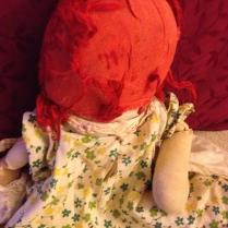 Bald Raggedy Ann doll