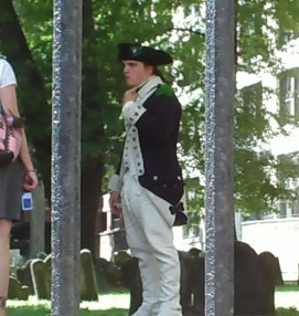 Patriot standing at Boston Public Garden