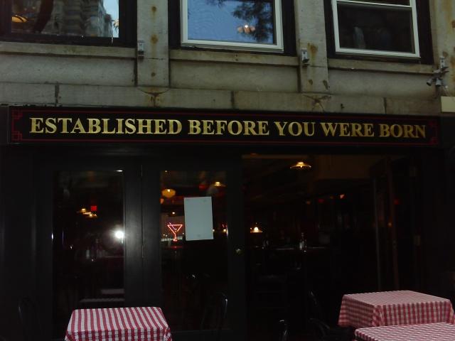 Boston restaurant sign