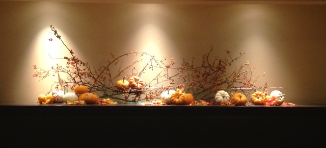 pumpkin decorative display