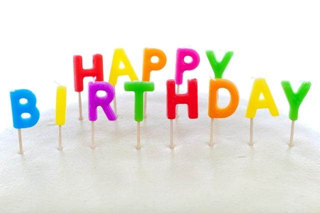 happy birthday candles