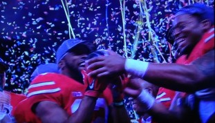 Buckeye players hold the trophy