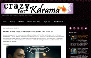 Crazy for Kdrama blog