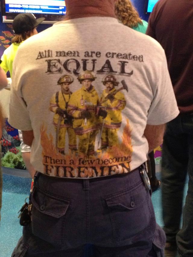 Pro-fireman t-shirt