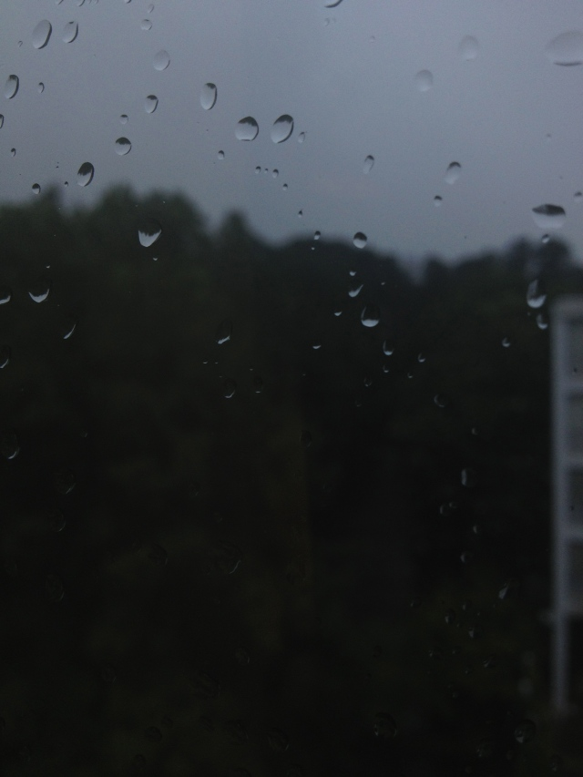 Raindrops on windows