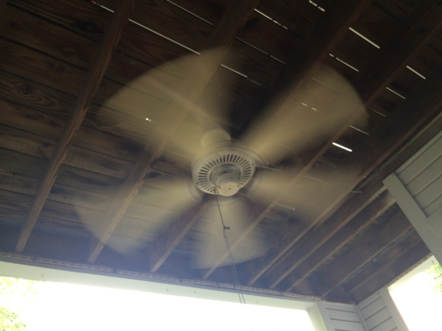 ceiling fan rotating