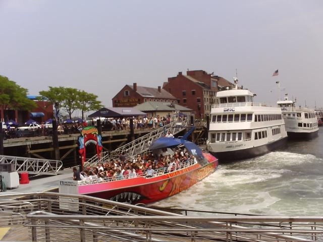 Godzilla boat in Boston