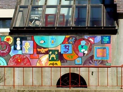 Piece School mural
