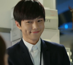 Kim Myung Soo aka L showing dimple