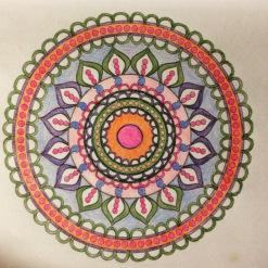 circular pattern coloring page