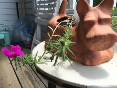 scottish terrier planter