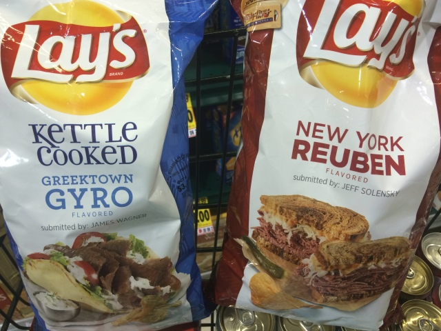 Gyro and New York Reuben Chips