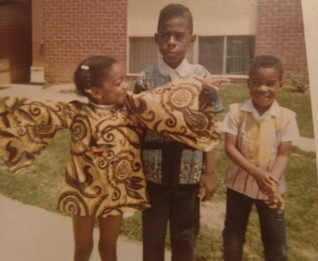 three kids wearing Dashikis