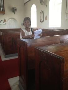 pews in St. George Parish Church