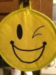 winking emoji pot holder