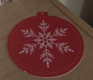 handmade paper ornament