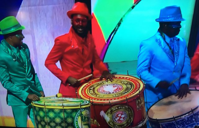 Drummers at the Rio Olympics 2016 Opening Ceremony