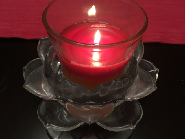one flame candle