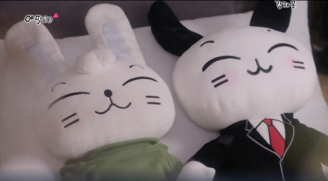 Couple stuffed rabbits toys from the K-drama Suspicious Partner
