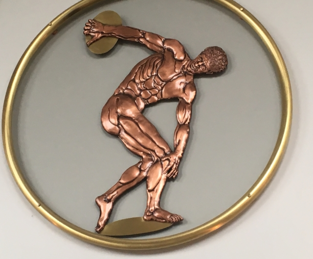 copper discus thrower art