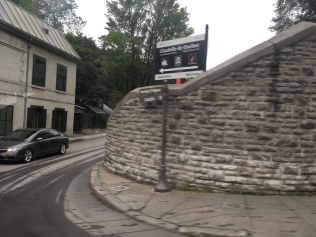 The wall in Quebec City, Canada