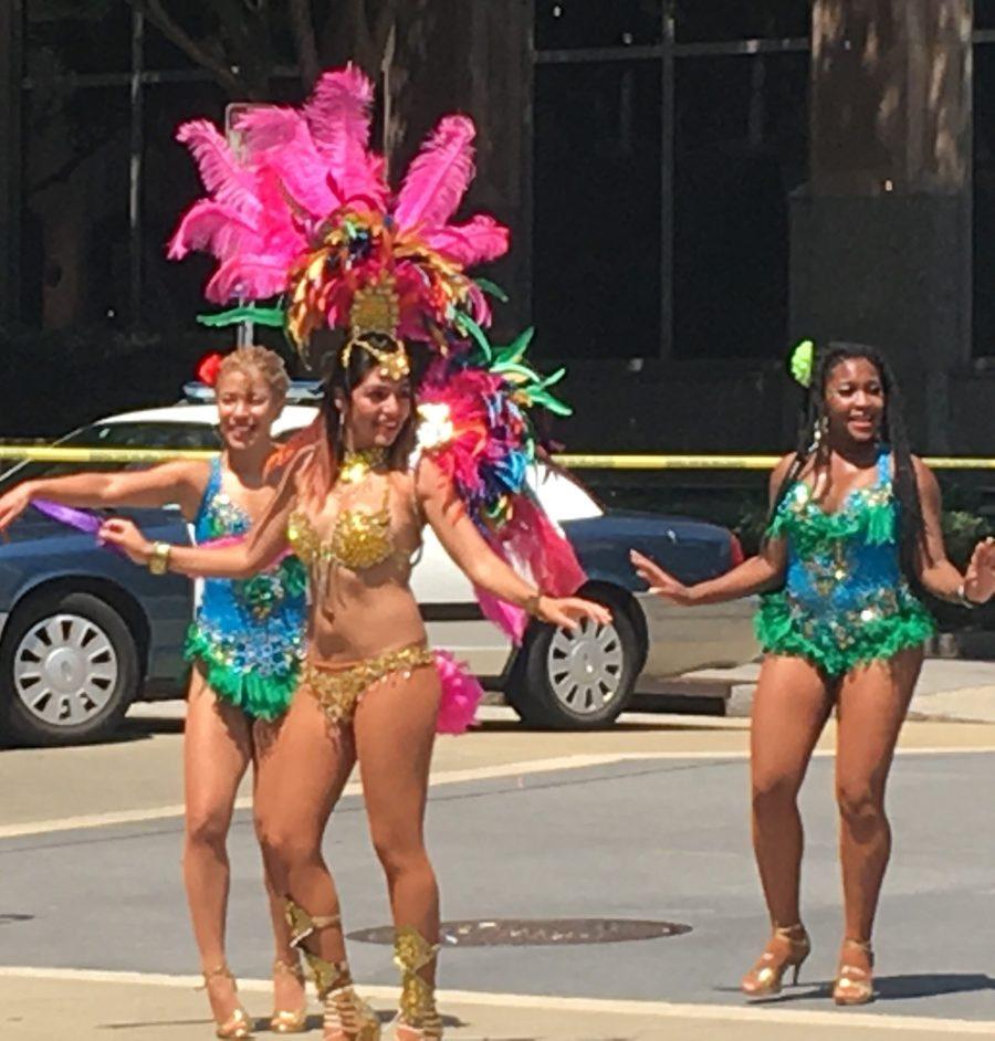 Ladies dressed for Caribbean festival