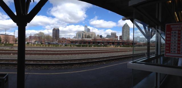 Raleigh skyline from Amtrak station