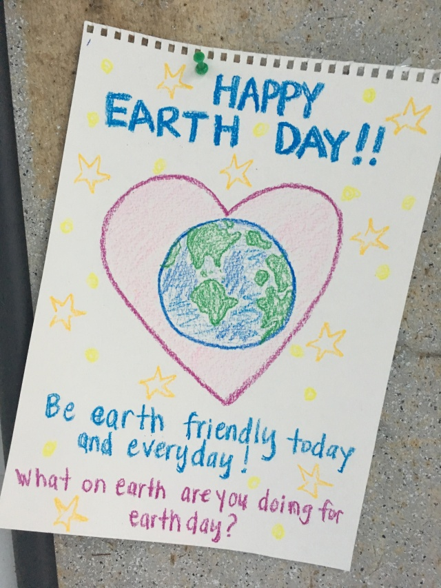 Happy Earth Day!! Be earth friendly today and everyday! What on earth are you doing for earth day?