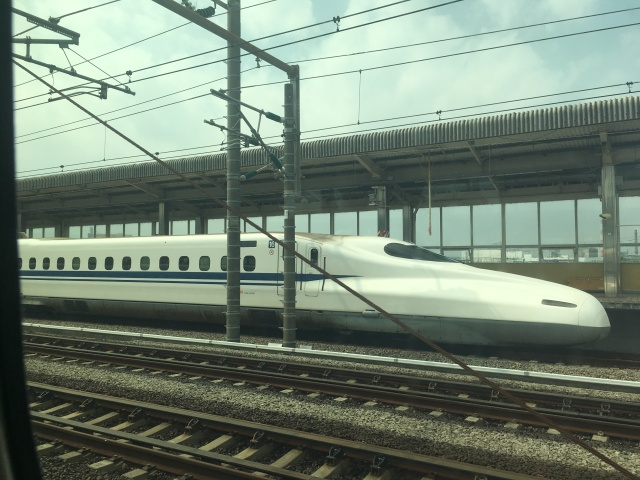 Japanese Shinkansen aka bullet train